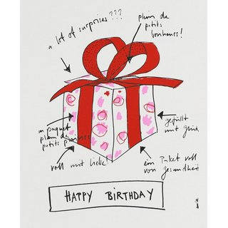 Handtuch happy Birthday (Paket)
